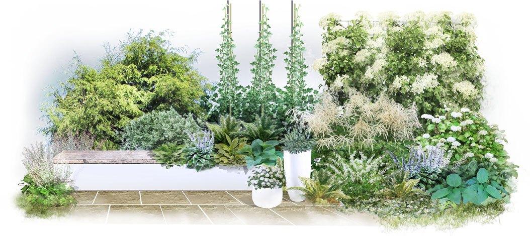 Wygląd ogrodu inspirowanego Grenlandią