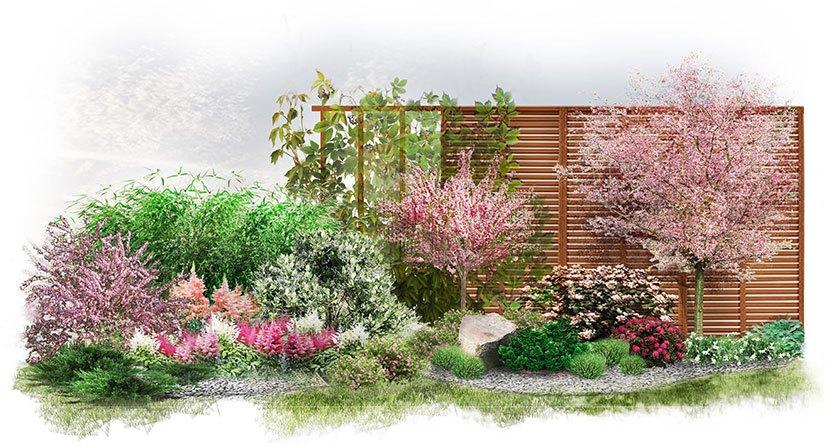 Projekt ogrodu w stylu japońskim: Japońska Harmonia - wizualizacja