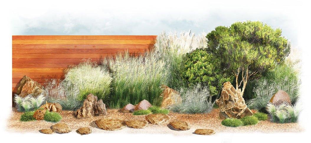 Wygląd ogrodu inspirowanego stylem afrykańskim